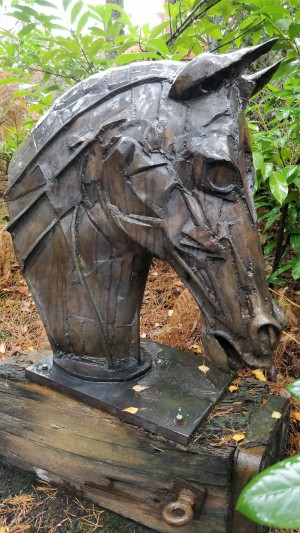 Warhorse Head by Haliday Avray-Wilson at The Sculpture Park