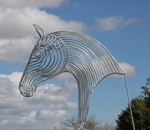 Chrome Horse Head by William Thomson