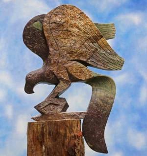 Landing Eagle by Witness Bonjisi at The Sculpture Park