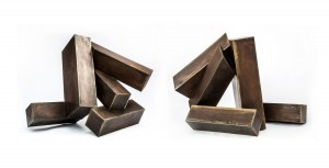 Xavier Corbero, Twin Abstracts, Bronze, The Sculpture Park