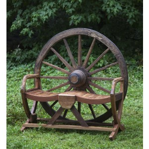 Cart Wheel Bench by Anon. Unknown