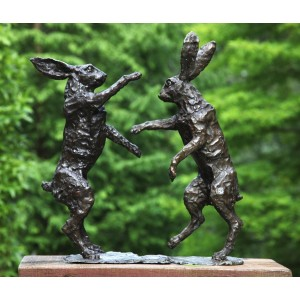 Boxing Hares by John Cox