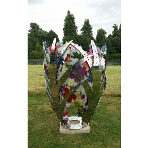 Bud - exotic flowers by Ruth Moilliet at The Sculpture Park