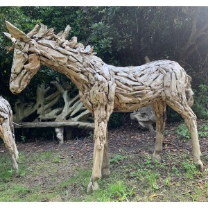 Driftwood Horse 1 by Anon Unknown at The Sculpture Park