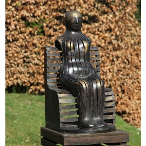 Figure on a Park Bench by Geraldine Knight