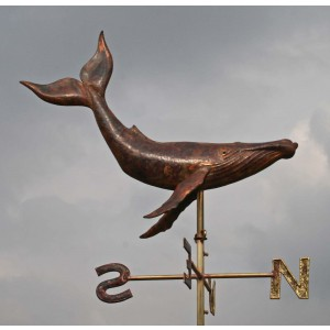 Humpback Whale Weathervane by Karen Melody Green