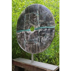 Raku Disc by Peter Hayes at The Sculpture Park