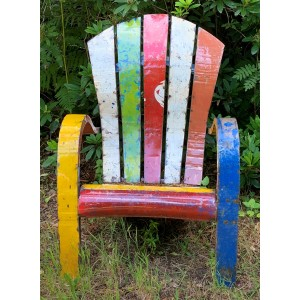 Rainbow Chair by Anon Unknown at The Sculpture Park