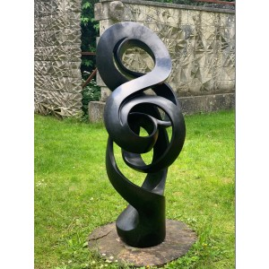 Sign Changara, Path of True Love, Stone, 136cm high, 50cm wide, 60cm deep, The Sculpture Park