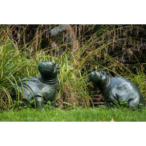 Waiting for a Catch (Hippos) by Timothy Rukodzi at The Sculpture Park
