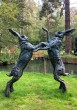 Monumental Boxing Hares by Lucy Kinsella at The Sculpture Park