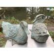 Anon. Two Ducks, Bronze, Open, each 20cm high, 18cm wide, 35cm deep
