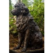 Tanya Russell, Sitting Newfoundland, Bronze Resin, 86cm high, 40cm wide, 100cm deep, The Sculpture Park