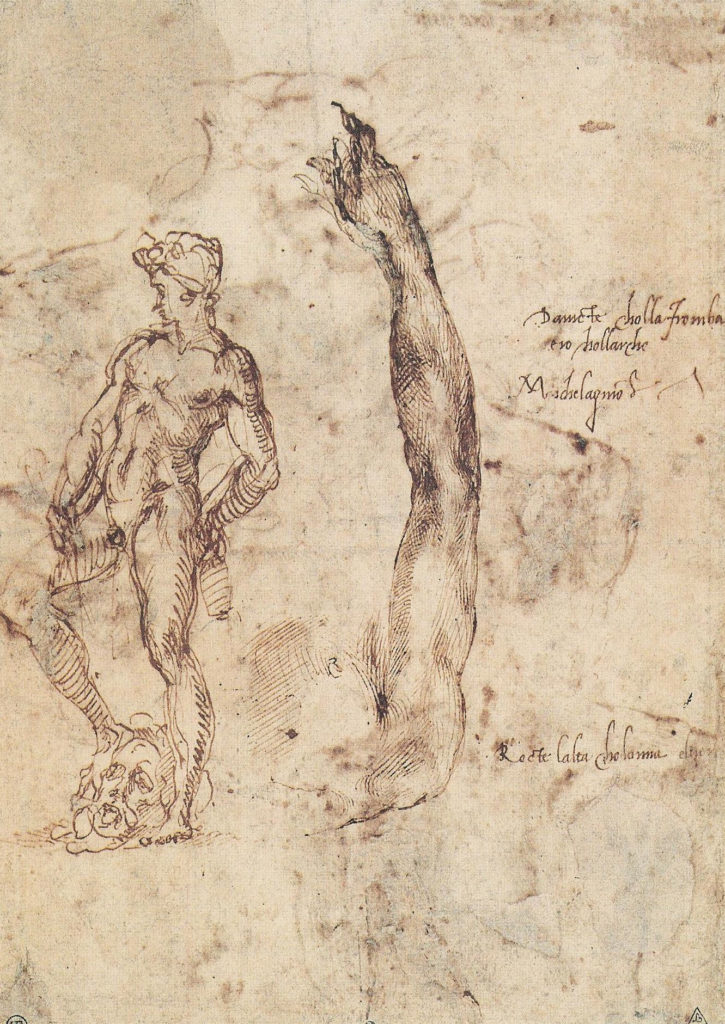 David Bronze Louvre Study 1502 Drawing Sculpture