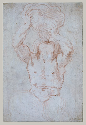 Bernini Early Sketch Drawing Sculpture