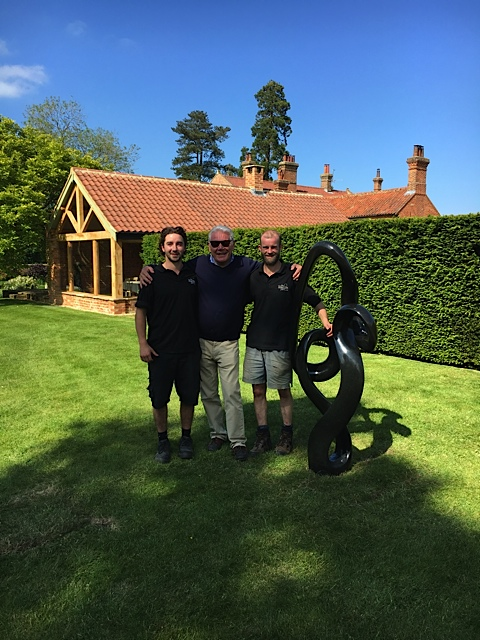 Shona Sculpture from the sculpture park with new owner